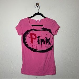 Moschino Cheap and Chic Pink Short Sleeve T Shirt